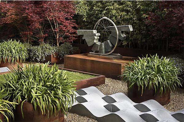 Jardín japonés del hotel adaptado Santemar