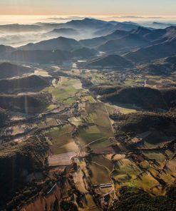 Viaje accesible en globo en la Garrotxa